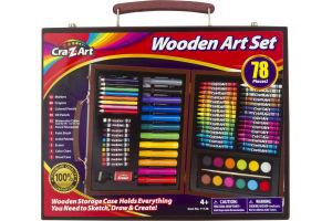 Cra-Z-Art Wooden Art Set - 78 PC