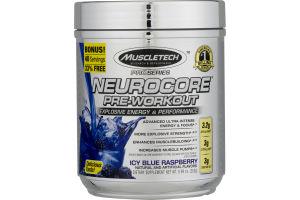 MuscleTech Neurocore Pre-Workout Proseries Explosive Energy & Preformance Icy Blue Raspberry Dietary Supplement