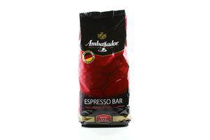 Кава Ambassador натуральна темнообсмажена у зернах 1000г х6