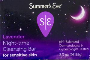 Summer's Eve Lavender Night-Time Cleansing Bar For Sensitive Skin