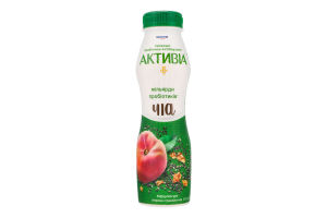 Бифидойогурт 1.5% Персик-гранола-чиа Активіа п/бут 290г