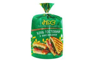Хлеб тостовый с отрубями Ново-Баварський хлібозавод м/у 250г