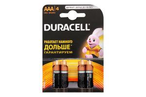 Батарейки AAA LR 03-MN2400 Duracell 4шт