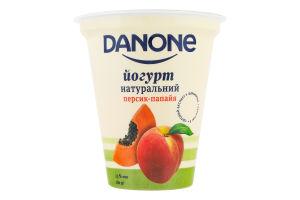 Йогурт 2.5% натуральный Персик-папайя Danone ст 260г