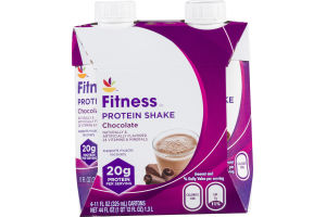 Ahold Fitness Protein Shake Chocolate - 4 CT