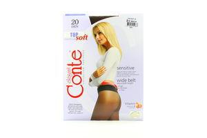 Колготы женские Conte Sensitive Top 20den 2-S mocca