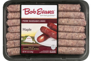 Bob Evans Pork Sausage Links Maple - 14 CT