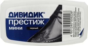 Губка для обуви Дивидкик Престиж мини черная