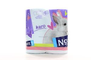 Бумага туалетная 2-х слойная Karo Bella №1 4шт