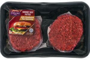 DiLuigi Gourmet Beef Patties with Steakhouse Pub Seasoning - 4 CT