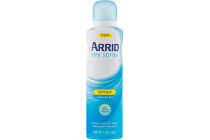 Arrid Dry Spray Antiperspirant Deodorant Renew