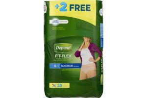 Depend Fit-Flex Underwear For Women XL Maximum Absorbency - 26 CT