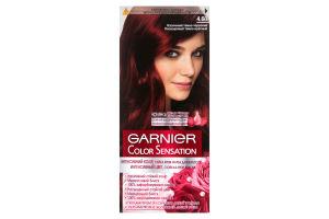 Крем-фарба для волосся Color Sensation Інтенсивний темно-червоний №4.60 Garnier