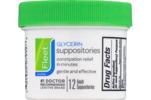 Fleet Glycerin Suppositories - 12 CT