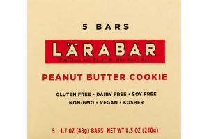 Larabar The Original Fruit & Nut Food Bar Peanut Butter Cookie - 5 CT
