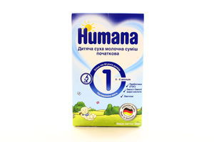 Смесь 1 молочная начальная Humana 300г