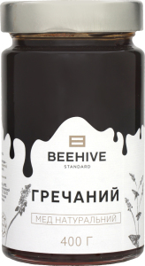Мед натуральний Гречаний Beehive с/б 400г