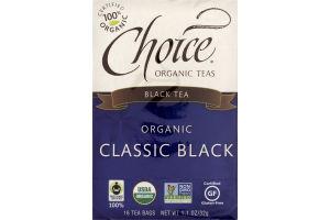 Choice Organic Teas Black Tea Organic Classic Black Tea Bags - 16 CT