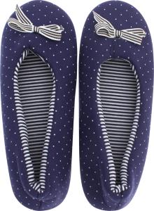 Тапочки-чешки комнатные женские Twins Горох 38-39 синий
