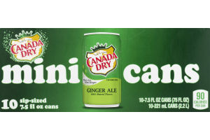 Canada Dry Mini Cans Ginger Ale - 10 CT