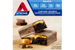 Atkins Caramel Double Chocolate Crunch Bar - 5 CT