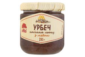 Паста з насіння льону з медом Урбеч Інша їжа с/б 200г