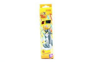 Олівці CoolForSchool Tom&Jerry кольорові 6шт TJ02100