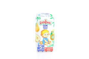 Сок для детей от 5мес Яблоко-груша с пектином Спелёнок т/п 0.2л