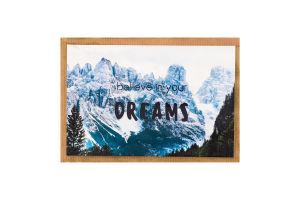 Открытка поздравительная с конвертом 10х15см Believe in your dreams S.Brothers&Co 1шт в ассорт