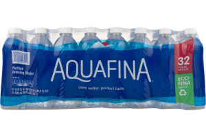 Aquafina Purified Drinking Water - 32 CT