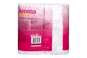 Бумага туалетная Розовый Рута 4шт