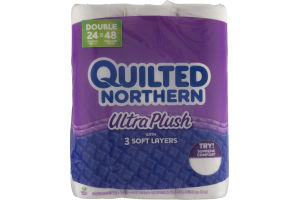 Quilted Northern Ultra Plush Unscented Bathroom Tissue - 24 CT