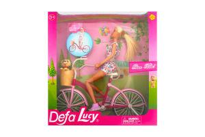 """Кукла """"Defa"""" на велосипеде"""