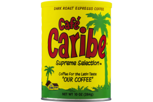Cafe Caribe Supreme Selection Coffee for the Latin Taste Dark Roast Espresso Coffee