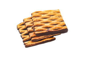 Печиво здобне листкове з чорною глазур'ю Сенсація Norsu кг