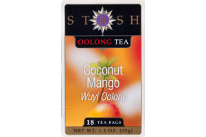 Stash Oolong Tea Bags Coconut Mango - 18 CT