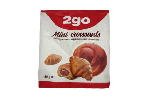 Мини-круассаны с карамельной начинкой 2go м/у 180г