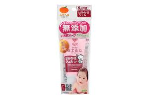 Зубная паста-гель для малышей с щеточкой Baby Arau 35г