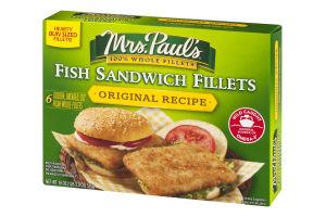 Mrs. Paul's Fish Sandwich Fillets Original Recipe - 6 CT