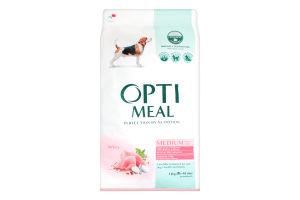 Корм сухой с индейкой для взрослых собак средних пород Optimeal м/у 12кг