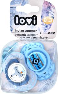 Пустушка для хлопчиків від 0 до 3міс силіконова динамічна №22/855 Indian Summer Lovi 2шт
