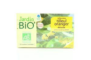 Чай Jardin Bio липовий з апельсином заспок органіч20*1,5г