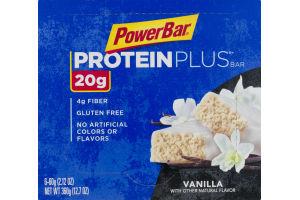 PowerBar Protein Plus Bar Vanilla - 6 CT