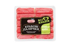 Крабовые палочки с мясом натурального краба охлажденные Vici в/у 250г