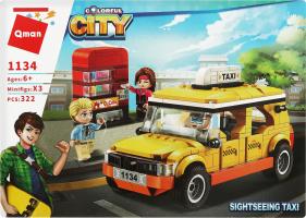 Конструктор для детей от 6лет №1134 Сity Taxi Qman 1шт