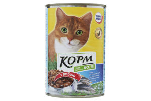 Корм для котов Повна Чаша с рыбой