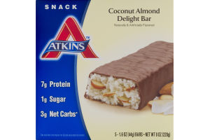 Atkins Coconut Almond Delight Bar - 5 CT