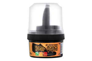 Крем-краска для кожаных изделий черная Premium Blyskavka 60мл