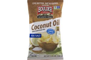 Boulder Canyon Coconut Oil Kettle Cooked Potato Chips Sea Salt