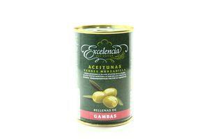 Оливки фаршированные пастой из креветки Excelencia ж/б 300г